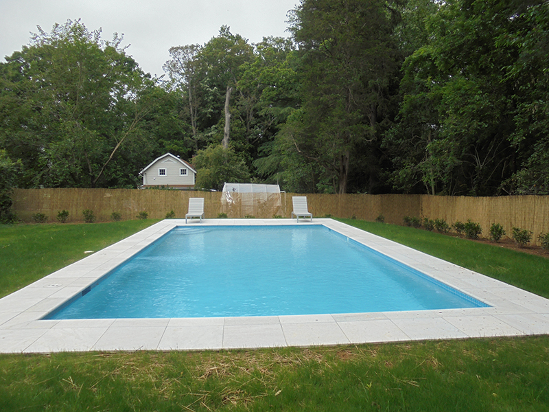 Each pool is custom to the yard and family