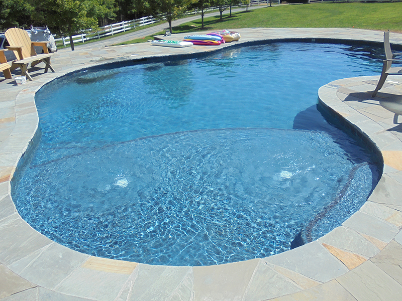 Custom shaped pools