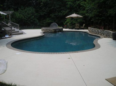 Custom designed pool and spa