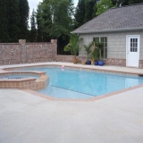 Custom built pool and spa