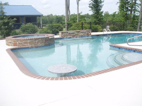 Spa into in ground pool