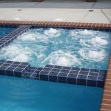 square spa into pool