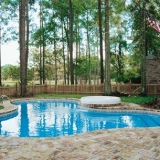 Custom Vinyl Pool with Water Feature